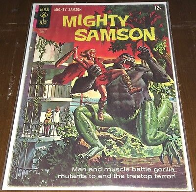Mighty Samson # 10 Gold Key Silver Age Comic 5.0 FN Gorilla Mutants