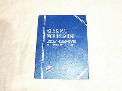 Whitman Folder for Great Britain Half Crowns 1911 to 1940 with 15 Silver Coins