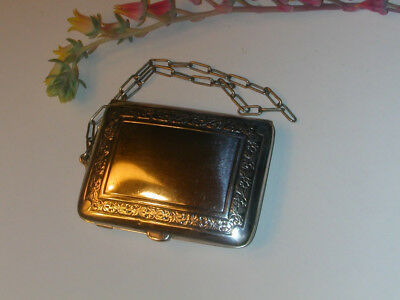 EXQUISITE EARLY ART DECO SILVER PLATED DANCE COMPACT by WALLACE Just Beautiful!