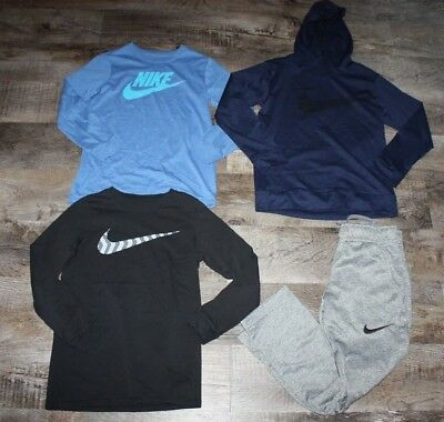 Boys Nike Shirt Active Pant Hoodie Size Small 8 Lot