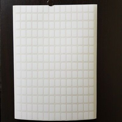 196 Small White Labels Sticky 9x13mm Stickers Blank Self Adhesive Price Tags