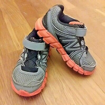 New Balance KV750TOI Grey Black Orange Kids Infants Shoe Size 7