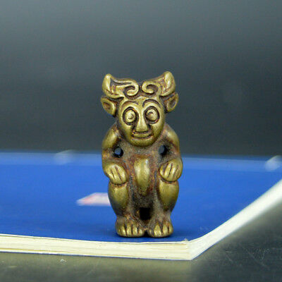 Chinese old collection handwork bronze Hand piece statue Pendant
