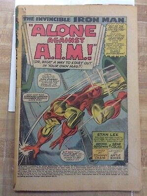Iron Man #1 1968 Stan Lee Gene Colan not CgC 1st Iron Man issue Hot Avengers
