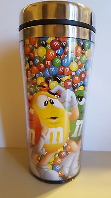 RARE M&M CREW LINEUP STAINLESS LINED, DOUBLE WALL, INSULATED 15.2 oz TRAVEL MUG