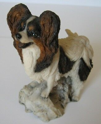 Tri-Colored Cavalier King Charles Butterfly Spaniel Pappillon dog Mint! RARE!