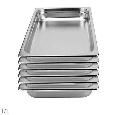 SOGA 6 x Gastronorm GN Pan Full Size 1/1 GN Pan 100mm Deep Stainless Steel Tray