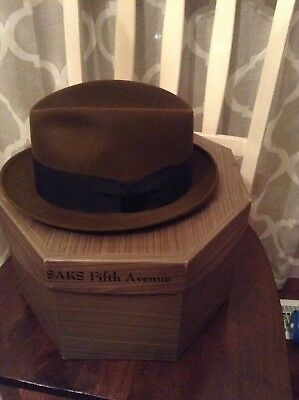 Rare Vintage Finchley 7 3/8 Mens Fedora 1930s Hat And  Hat Box Beaver