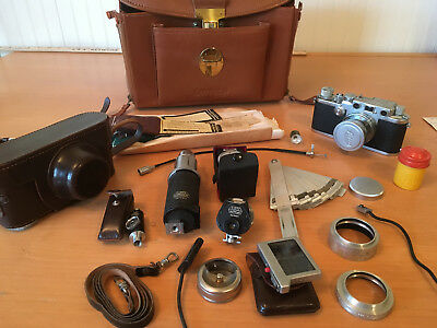 1953  Leica D.R.P IIIF Camera SUMMITAR, OMNICA LEATHER CASE, AND SO MUCH MORE