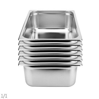 SOGA 6 x Gastronorm GN Pan Full Size 1/1 GN Pan 150mm Deep Stainless Steel Tray