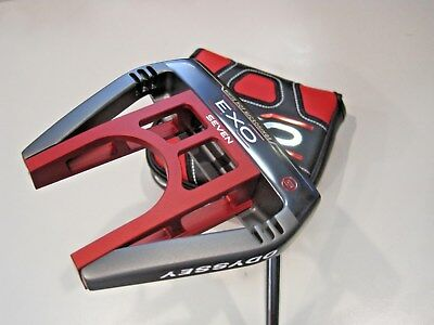 "New Odyssey Exo Seven Heel Shaft 35"" Superstroke 2.0 Mid Slim With Headcover"
