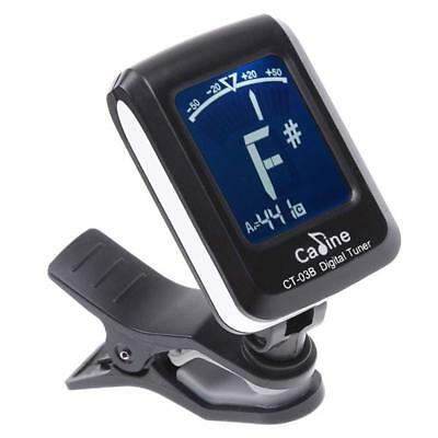 LCD Clip-on Electronic Digital Guitar Chromatic Bass Violin Ukulele Tuner GL