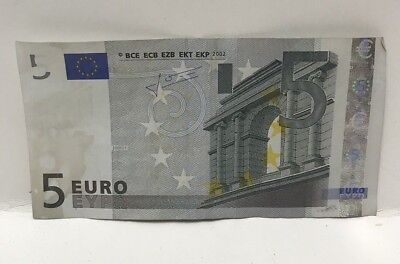 European Union 5 Euro 2002 Banknote Bill Collectible Currency Paper Money Used