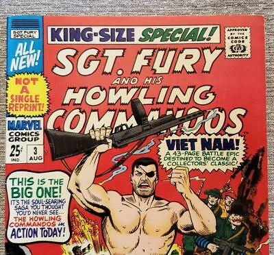 * Sgt. Fury KING Size Special 3 (NM 9.2) 25c giant ORIGINAL Owner Collection *