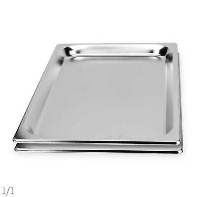 SOGA 2 x Gastronorm GN Pan Full Size 1/1 GN Pan 65mm Deep Stainless Steel Tray
