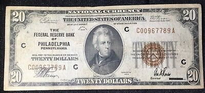1929 Series $20.00  Federal Reserve Bank of Philadelphia  Fr 1870-C