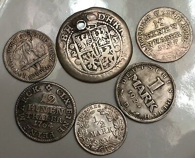 Nice Lot Of Silver Coins From Germany 1623- 1924