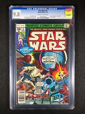"""Star Wars #5 CGC 9.8 (1977) - Part 5 of """"Star Wars: A New Hope"""" movie adaptation"""