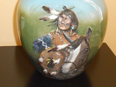 steve wisecarver hand  carved and painted pottery
