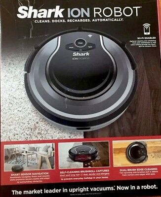 Black /& Grey #58MP7 Shark ION ROBOT Wi-Fi Enabled Vacuum Cleaner RV750