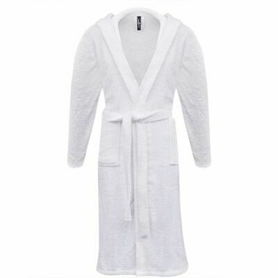 vidaXL 500 g/m² Unisex Terry Bathrobe 100% Cotton White XXL Home Dressing Gown