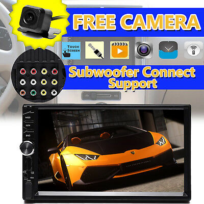 """Newest Double 2 Din 7"""" Car FM/MP5 Player Touch Screen Car Stereo Radio Bluetooth"""