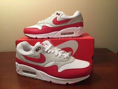 free shipping 6f1a4 3eac5 Nike Air Max 90 1 OG White Red Sz 8 AJ7695-100 University Red