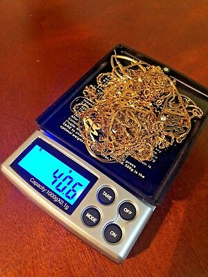 14k Gold lot - Chains and earring pieces - 40.6 grams