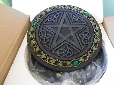 Nemesis Now - Pentagram Draughts Set Round Case to Store, Display and Play