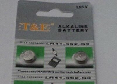 2 X Ag3-Lr41-392-G3- Alkaline Button Cell Batteries,Free Post In Oz