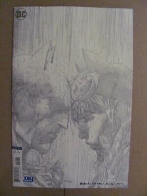 Batman #50 DC 2016 Series The Wedding Jim Lee 1:100 Sketch Variant 9.6 NM+