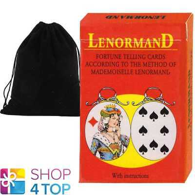 Mlle Lenormand Oracle 36 Cards Deck Esoteric Telling With Velvet Bag Agm New
