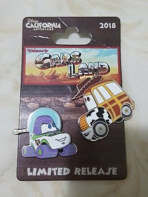Disney California Adventure Cars Land Woody & Buzz Cars Pin 2018 Limited Release