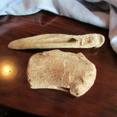 2 Chinese Neolithic Bone Tools