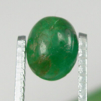 1.22 carat Oval Cabochon 8x6mm Natural Green Emerald Loose Gemstone - EmCb04