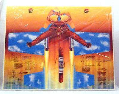 The Rocketeer Paper Flyer rare 1991 PIZZA HUT COLLECTIBLE Campbell Tim Dalton