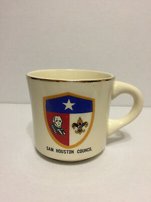 Vintage Boy Scouts of America BSA Coffee Cup Mug Sam Houston Council