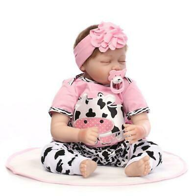 Reborn Baby Dolls 22 inch Real Life Handmade Newborn Vinyl Silicone Toddler Doll
