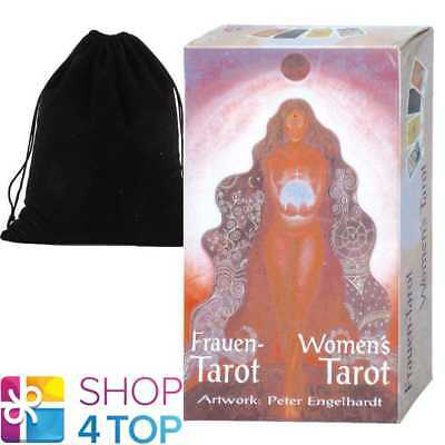 Women's Tarot Deck Cards Peter Egelhardt Esoteric Agm With Velvet Bag New