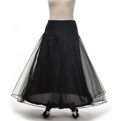 Black Petticoat Crinoline Underskirt Pageant Party Ball Gown Skirt Wedding Dress