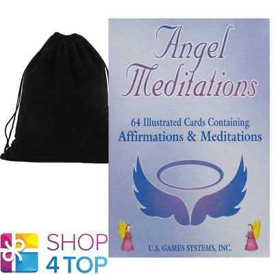 Angel Meditation Affirmations Cards Deck Us Games Systems With Velvet Bag New