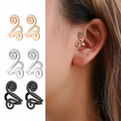 No Piercing Earring Cuff Cartilage Ear Studs Clip On Earrings Punk Jewelry ~