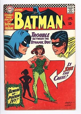 Batman #181 Vol 1 Very Nice Upper Mid Grade 1st App Poison Ivy Complete w Pin-Up