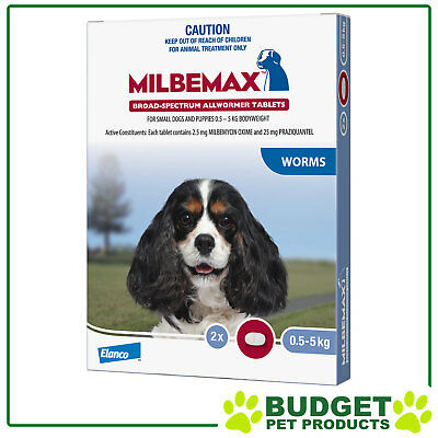 Milbemax Allwormer For Puppies & Dogs 0.5-5kg - 2, 4, 8 or 20 Tablets