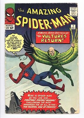 Amazing Spider-Man #7 Vol 1 Very Nice Higher Grade 2nd Appearance of the Vulture