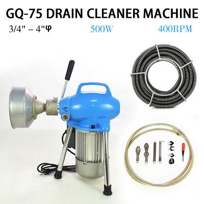 "3/4""~4"" Sectional Electric Pipe Drain Cleaner Cleaning Machine Pipeline Dredger"