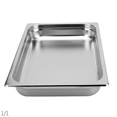 SOGA 1 x Gastronorm GN Pan Full Size 1/1 GN Pan 100mm Deep Stainless Steel Tray