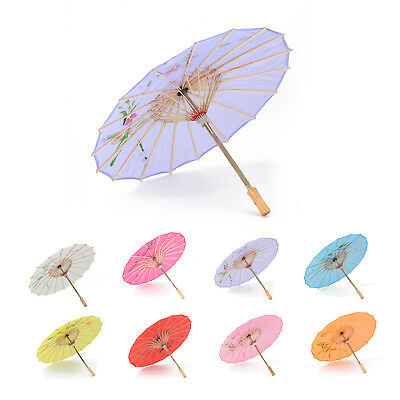 UK Japanese Chinese Umbrella Art Deco Painted Parasol For Wedding Dance Party