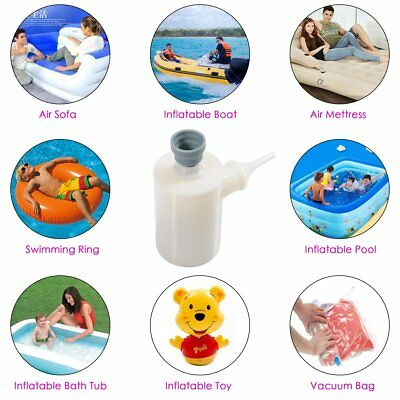 Mini Portable Air Pump IPX7 Inflator Camping Bed Mattress Pool rubber boat pool