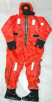 Huayan Hyf 1 Insulated Immersion Rescue Suit W/head Support, Harness, *size-L*